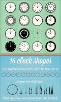 Clock Custom Shapes (Photoshop and Illustrator) by Jeremychild