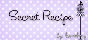 ' Font: Secret Recipe by LoveSeleny