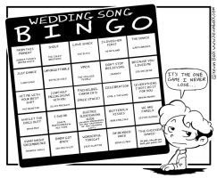 Wedding Song Bingo by kevinbolk