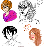 unfinished doodles b/c my tablet stopped working by MissMattie