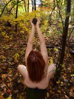 1433-LCW Nude in Nature Woman Offers Seed of Life by artonline