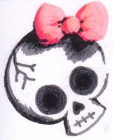 Girly Skull by IamShannoDuh