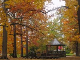 Autumn Rain Bandstand by body-electric