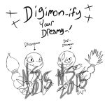 Digimon-ify Your Dreamy-FREE LINEART BASE by Inkblot-Rabbit