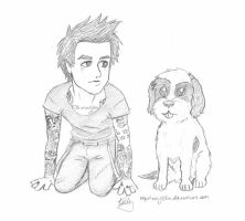 Billie Joe and Rocky Pup by kelly42fox