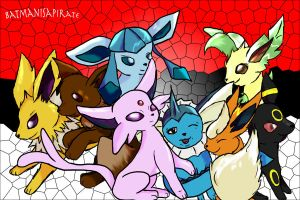 SO MANY EEVEE! D: by BatmanisaPirate