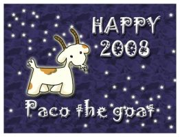Happy 2008 from Paco by hyky