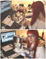 Signing Sold Prints by DoncellaSuicide