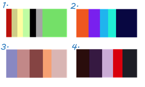 Colour Palette - Mystery Adopts [Closed] by Fuka-chi