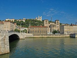 Lyon and the Rhone by AgiVega