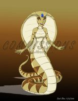 Jasmine as a snake lady by bellsandy