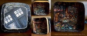 Doctor Who Painted Box by Daphneven