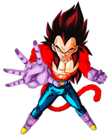 Vegeta SS4  Final Shine Attack by alexiscabo1