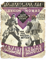 XCOM Recruitment Poster 'Lexicon' and 'Nomad' by CoryMcD