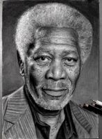 Morgan Freeman by victorz777