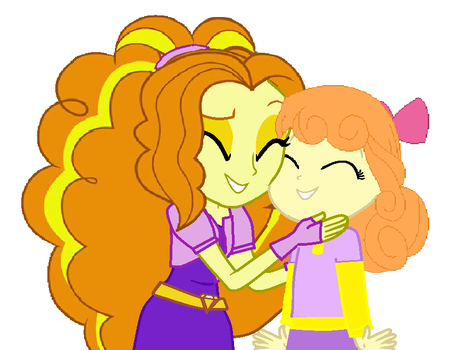 Adagio Dazzle and her little sister Orange Sherbet by ani80