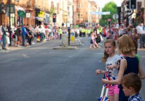 Olympic Torch Run-Through in Worcester, Crowd 1 by Art-ography