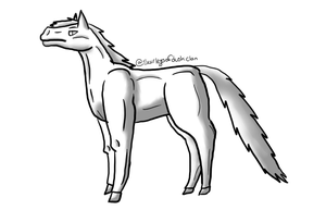 Horse line art (free) ( set layer to multiply) by XTwilight-SerenityX