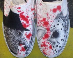freddy vs jason shoes by hotzauce