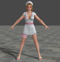 Dead or Alive 5 Ultimate Tina Nurse by Irokichigai01