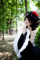 Cosplay- Kasane Teto (Cantarella ver.) in forest1 by CinnamonRing