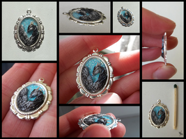 Feathered Mist Pendant- PENDANT COMMISSIONS CLOSED by LadyAway