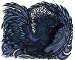 Bantam Phoenix (Ayam Cemani) - Color Flats Only by LithiumJay