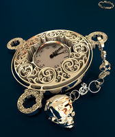 mister deaths pocket watch by mrhd