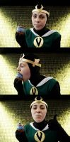 Kid Loki killed the Cookie-Monster-Cupcake!!! by Layen