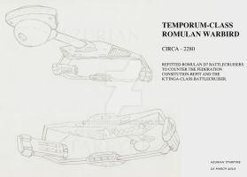 Temporum Class Romulan Warbird by starwolfx