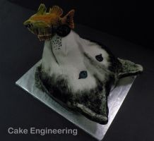 Husky with Fish cake by cake-engineering