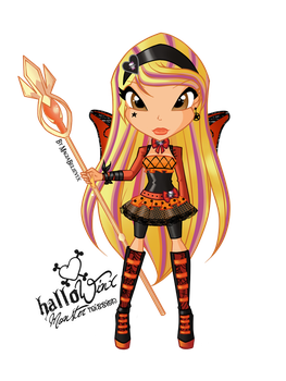 Stella HalloWinx chibi by MagiaBelievix