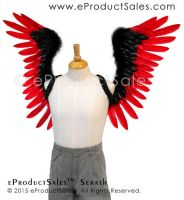 eProductSales Serath BlackRed Tipped Feather Wings by eProductSales