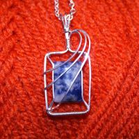 Sodalite and silver pendant by innerdiameter