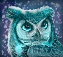 Bleu Hibou by avianAbstraction