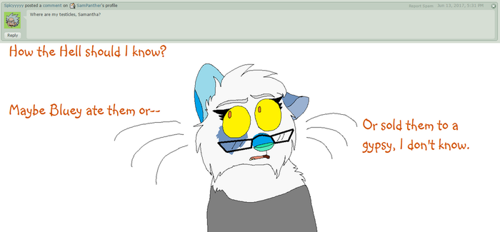 Ask the artist- Testicles missing by SamPanther