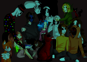 Creepypasta movie night redraw + speedpaint :D by janethewolf12