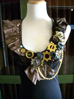 OOAK steampunk button top by ByKato