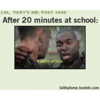 how i am at school by PandahHero
