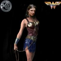 Justice Leage character poster: Wonder Woman by SteveIrwinFan96
