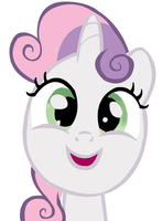 Sweetie Belle (Eyes Fixed) by Mr-Rarity