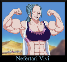 One Muscular Piece: Nefertari Vivi by MangaGirlsxMuscle