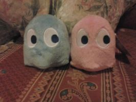 My ghosts Blue and Pinkye by Nenetchy