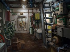 submarine_lower deck by yoggurt