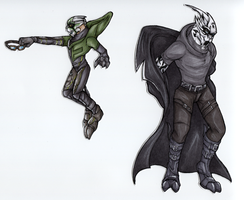 Paper Turians by Deezmo