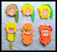 Pins - Zelda 25th Anniversary by GwydionAE
