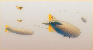 The Kaisers Airships by donaguirre