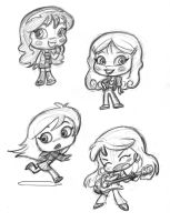 Cutsey girl designs, pt2 by tombancroft