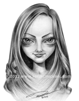 Amanda Seyfried Caricature by pat-mcmichael