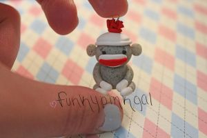 Sock Monkey Charm by funkypinkgal